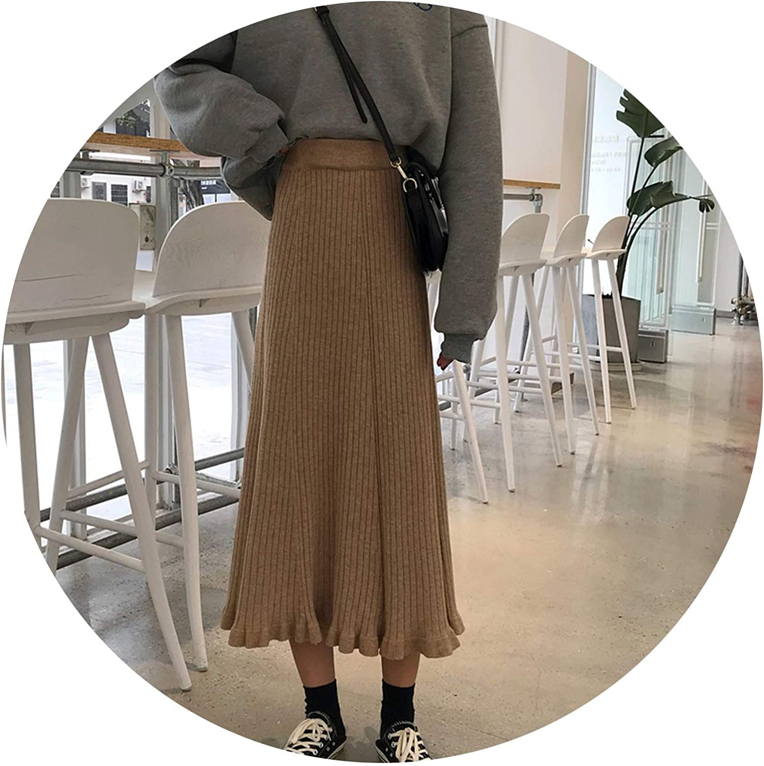2 colors Mihoshop Ulzzang Korean Korea Women Fashion Clothing Spring High Waist Casual Preppy Student Preppy Khika Black Skirts,See chart1,One Size