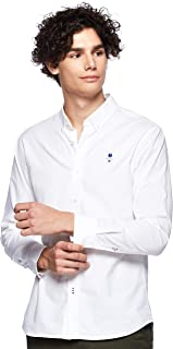 Giordano Men's 01049043 Classic men stretchy oxford shirts