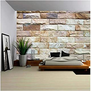 wall26 - Stone Wall Texture - Removable Wall Mural | Self-Adhesive Large Wallpaper - 66x96 inches