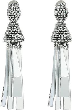 Opaque Tassel C Earrings
