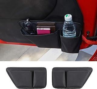JeCar Door Storage Bag Front Door Pockets Durable Oxford Storage Organizer for 2011-2018 Jeep Wrangler JK JKU 2/4 Door, Interior Accessories, 2 PCS