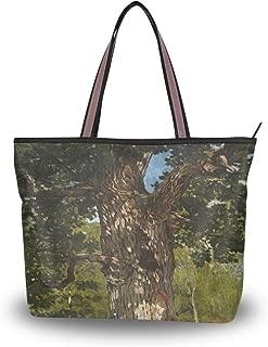 WIHVE The Bodmer Oak Monet Art Oil Paintings Women's Tote Bag Top Handle Satchel Handbags Shoulder Bags