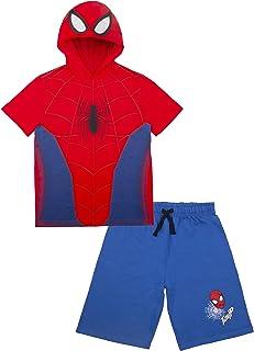 Marvel Avengers Super Hero's Boys Character Short Sleeve Costume Hoodie T-Shirt & Shorts Set