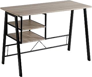 Mesa de Escritorio - Modelo ANDEA - Color Roble/Negro -
