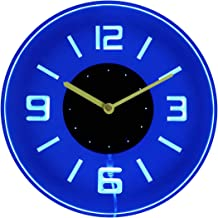 ADVPRO cnc2001-b Round Numerals Illuminated Edge Lit Bar Beer Neon Sign Wall Clock with..