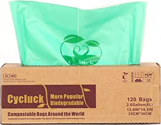 Cycluck 120 Bolsas 6L Bolsa de Basura ecológica 100%