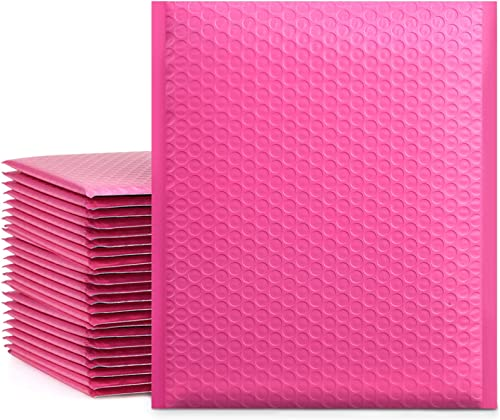 UCGOU 8.5x12 Inch Pink Poly Bubble Mailers Padded Envelopes Self Seal Mailing Shipping Envelopes Bags Pack of 25