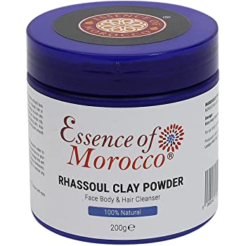 Moroccan Rhassoul Clay Powder Ghassoul Used as a Cleansing Facial Body and Hair Shampoo Mask Pure & Natural. 200 g. / 7 OZ