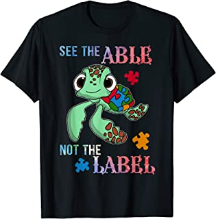 See the Able Not The Label T-Shirt Cute Autism Awareness T-Shirt