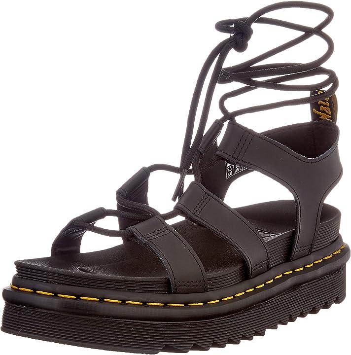 Sandalo donna dr. martens mod. nartilla nero 24641001