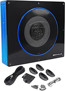 """Rockville Apm10b 10"""" 400W Powered/Active Studio Subwoofer Pro Reference Sub 8 inch RW8CA"""