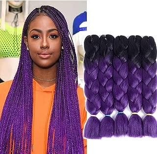 Best black to purple ombre braids Reviews