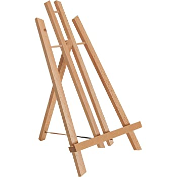 """US Art Supply 14 inch Tall Medium Tabletop Display A-Frame Easel (1-Each), Accommodates canvas art up to 12"""" high"""