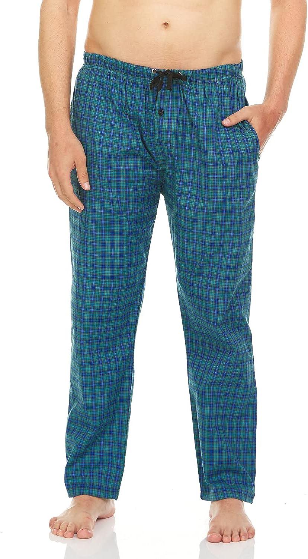 TRU FIT Men Woven Cotton Pajama Pants Plaid Lounge Sleepwear