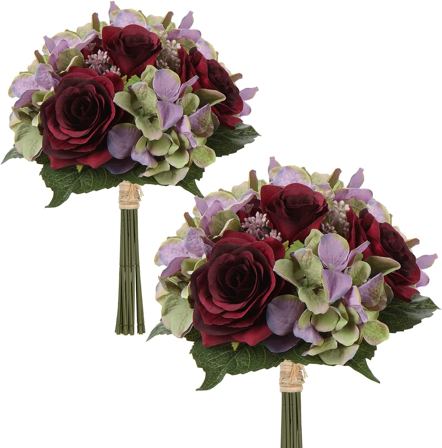 Artificial Limited time cheap sale Flower Bouquet Rose Hydrangea Flowers Stems Faux Long-awaited with