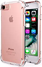 CaseHQ iPhone 7 Case, iPhone 8 Case,Crystal Clear Shock Absorption Bumper Slim Fit,Heavy Duty Protection TPU Cover Case for Apple iPhone 7(4.7 inch)(2016)/iPhone 8(4.7 inch)(2017) -Clear