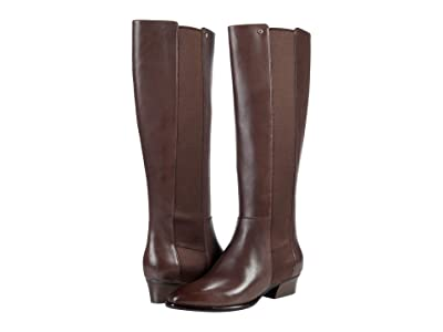 Cole Haan Hallee Stretch Boot (45 mm) (Java Majestic Leather/Tonal Gore) Women