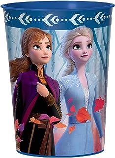 Frozen 2 Birthday, Metallic Anna & Elsa Favor Cup, 16 Oz.