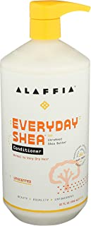 Alaffia EveryDay Shea Conditioner, Unscented, 32 Oz. Moisturizes, Restores and Protects. Made with Fair Trade Shea Butter,...