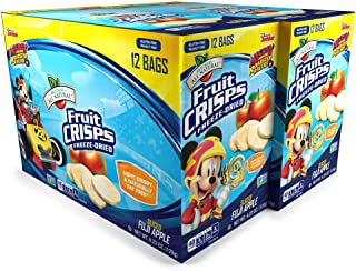 Brothers-ALL-Natural Mickey Mouse Apple Crisps Pouches, 0.35 Ounce (Pack of 24)  (2 Packs of 12 bags each)