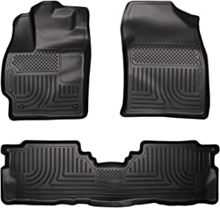 Husky Liners Fits 2012-17 Toyota Prius V Weatherbeater Front & 2nd Seat Floor Mats