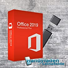 MS Office 2019 Professional Plus Lizenz-Key mit USB-Stick von Handyladen-Leinefelde 32 / 64 Bit Deutsche Vollversion