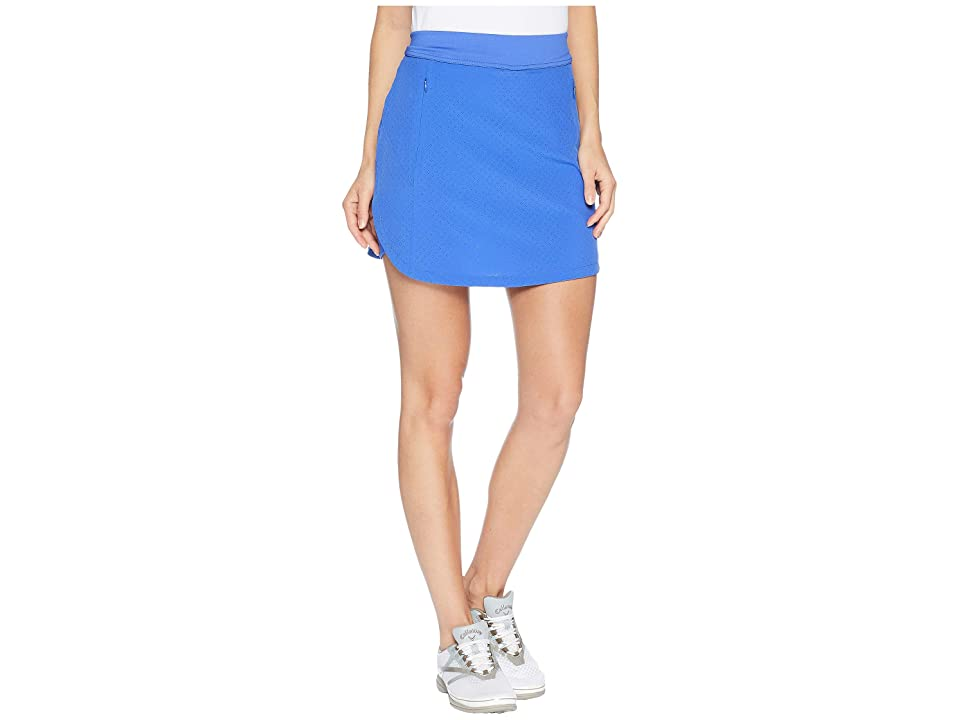 Callaway 17 Fast Track Perforated Skort (Dazzling Blue) Women