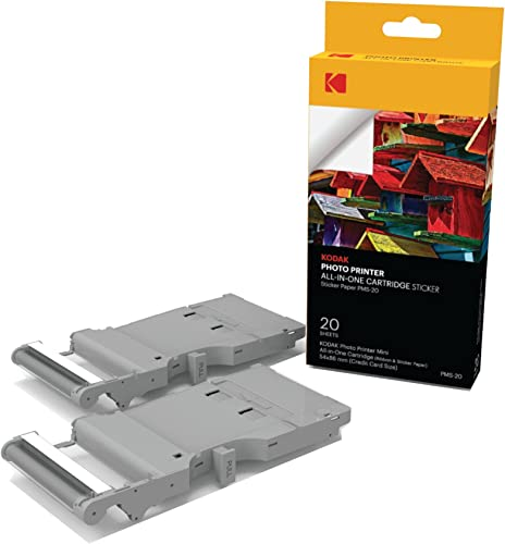 lowest Kodak Mini Photo Printer Sticker Back Cartridge PMC – All-in-One Paper & outlet online sale Color Ink Cartridge Refill - new arrival 20 Pack sale