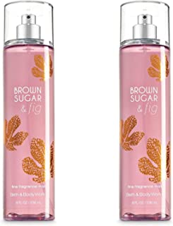 Bath and Body Works Mist, Brown Sugar and Fig, 8.0 Ounce - Set of 2