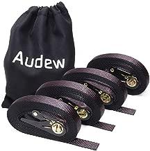 Audew Ratchet Tie Down Straps 4 Pack Ratchet Straps 20 FT-2400Lb Break Strength Cargo Straps, Heavy Duty Lashing Straps