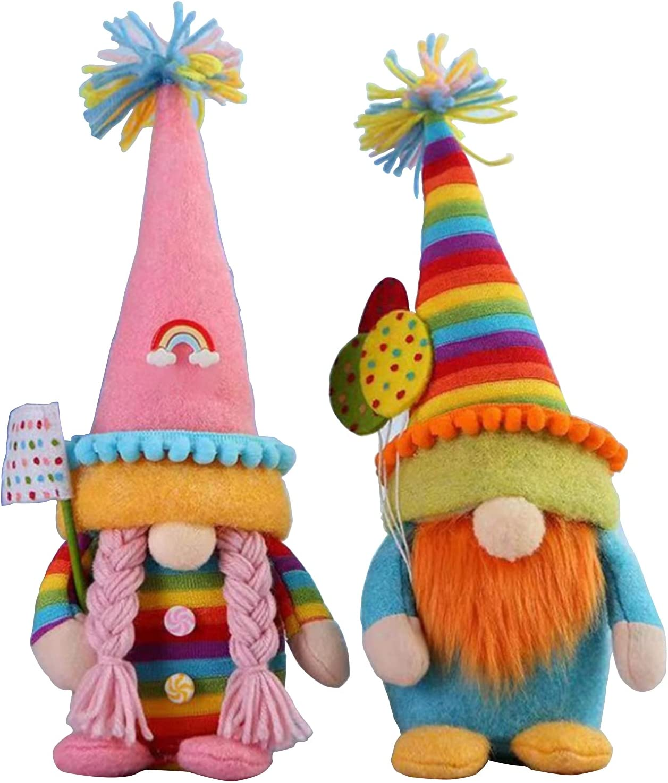 2 Pack Rainbow Dwarf Doll Fairy Gnome New York Mall Faceless Plush OFFer - Cu