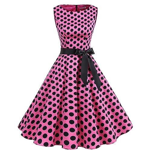 0092dac8b98dbe Gardenwed Women s Sleeveless Rockabilly Vintage Cocktail Dress 1950s Retro  Party Swing Dress