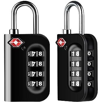 Portable et L/éger MagiDeal TSA 007 Serrure /à Combinaison en Aluminium Code /à 3 Chiffres Cadenas Valise Bagage Cadenas /à Code S/écuris/é Argent