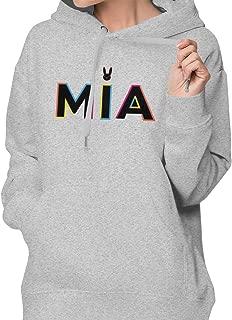 Womens Hoodies Fashion Sports Fleeces with Bad Bunny MIA Printing