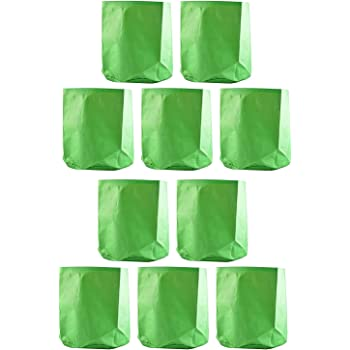 "YUVAGREEN Terrace Gardening Leafy Vegetable Green Grow Bag (12"" X 12"") - (Pack of 10)"