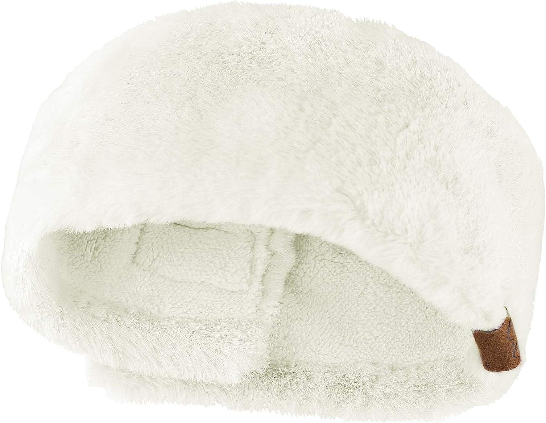 C.C Women's Soft Faux Fur Feel Sherpa Lined Ear Warmer Headband Headwrap