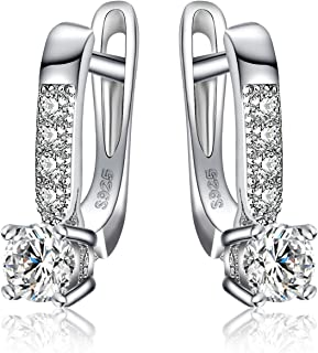 comprar comparacion JewelryPalace 1ct Cubic Zirconia cuelgan los pendientes Plata de ley 925