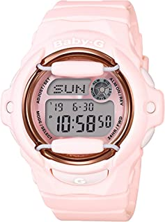 Casio Baby-G BG169G-4B Face Protector Baby Pink Rose Tone Watch Digital