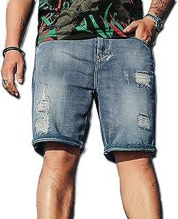 637226ae870e Men Denim Shorts Jeans Pants Summer New Pockets Vintage Holes Nostalgic  Short Denim Pants Plus Size