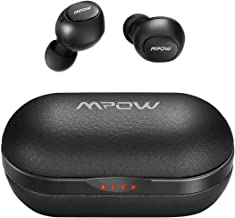 Wireless Earbuds, Mpow Bluetooth Earbuds Featured Hi-Fi Sound w/Bass, IPX7 Sports Wireless Earbuds w/35 Hrs Charging Case/CVC 8.0 Noise Cancelling Mic/Button Control/Compact & Comfort Design,Black