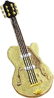 Electric Guitar - Blonde/Tan - Musical Instrument - Iron on Applique/Embroidered Patch