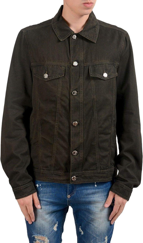 Versace Jeans Men's Brown Button Up Jean Jacket US M IT 50