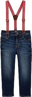 OshKosh B'Gosh Little Boys' Suspender Jeans, 2-Toddler Blue