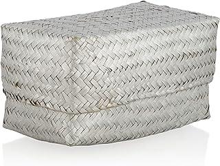 Boho Traders HU20 Seagrass Box, Silver