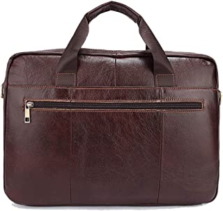 Men's Accessories 14-inch Laptop Shoulder Handbag,Retro Style Leather Briefcase Brown for Men Business Messenger Tote Bag Outdoor Recreation