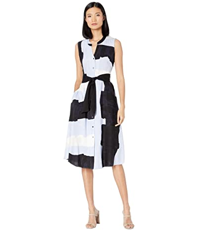 NIC+ZOE Petite In The Clouds Dress (Blue Multi) Women