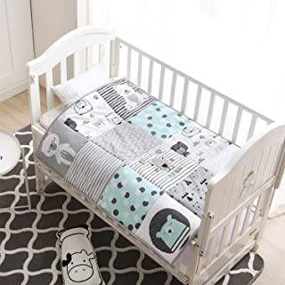 Winthome - Colcha para bebé, manta para cuna suave para niños y niñas de algodón puro