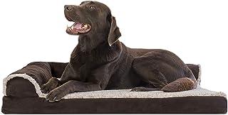 Furhaven Pet - Plush Orthopedic Sofa, L-Shaped Chaise...