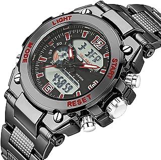 Men Analog Digital Military Army Sport Led Waterproof Wrist Watch, Watches Men Stainless Steel Sport Analog Quartz Watch M...