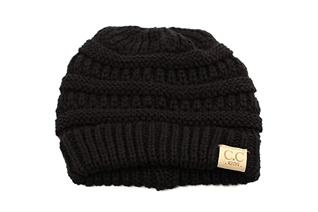 a00daaadc1a Kids Ages 2-7 Warm Chunky Thick Stretchy Knit Slouch Beanie Skull Hat